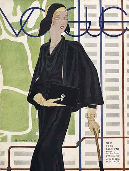 Pierre Mourgue Vogue Cover 1930-04-26 Copyright   Vogue Magazine Graphic Art Covers 1902-1958