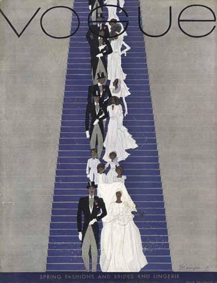 Pierre Mourgue Vogue Cover 1931-02-15 Copyright | Vogue Magazine Graphic Art Covers 1902-1958