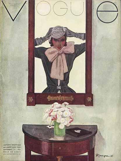 Pierre Mourgue Vogue Cover 1931-09-15 Copyright | Vogue Magazine Graphic Art Covers 1902-1958