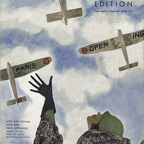 Pierre Mourgue Vogue Cover 1932-03-15 Copyright crop | Best of Vintage Cover Art 1900-1970