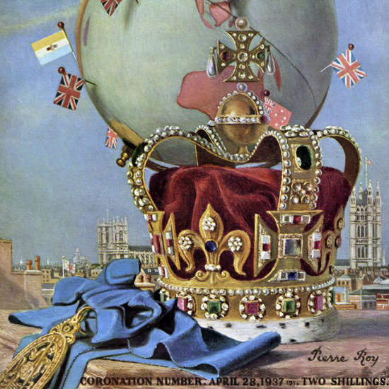 Pierre Roy Coronation Number 1937-04-28 Copyright crop | Best of 1930s Ad and Cover Art