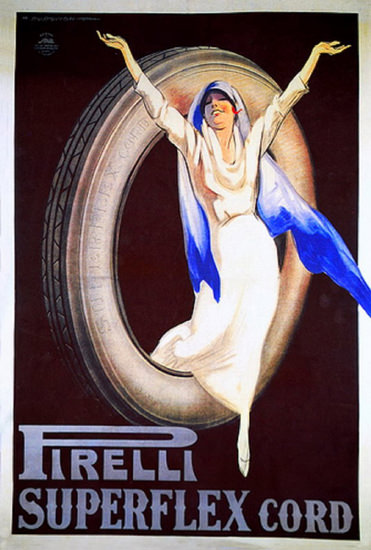 Pirelli Superflex Cord 1930 | Sex Appeal Vintage Ads and Covers 1891-1970