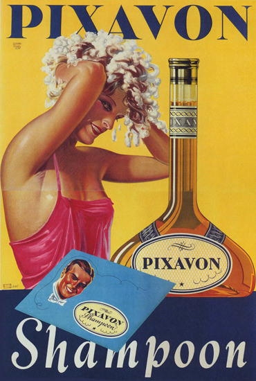 Pixavon Shampoon Austria Shampoo Girl | Sex Appeal Vintage Ads and Covers 1891-1970