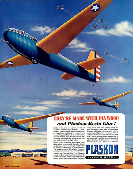 Plaskon Made With Plywood Plaskon Resin Glue | Vintage War Propaganda Posters 1891-1970