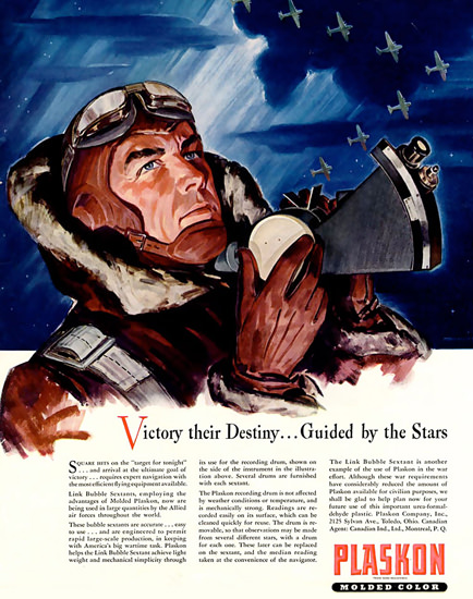 Plaskon Victory Destiny Guided By The Stars 1942 | Vintage War Propaganda Posters 1891-1970