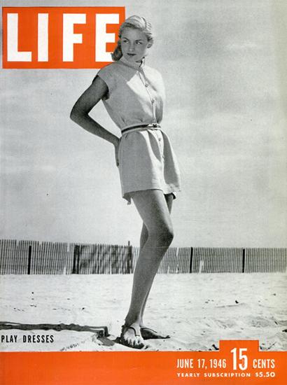 Play Dresses 17 Jun 1946 Copyright Life Magazine | Life Magazine BW Photo Covers 1936-1970