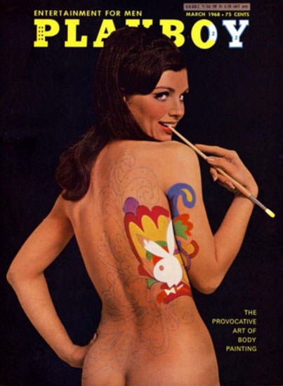 Sharon Kristie Playboy Copyright 1968 Provocative Art Of Body Painting | Sex Appeal Vintage Ads and Covers 1891-1970