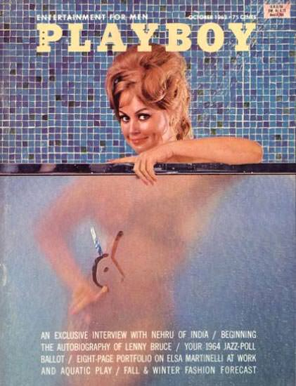 Teddi Smith Playboy Cover Copyright 1963 Aquatic Play | Sex Appeal Vintage Ads and Covers 1891-1970