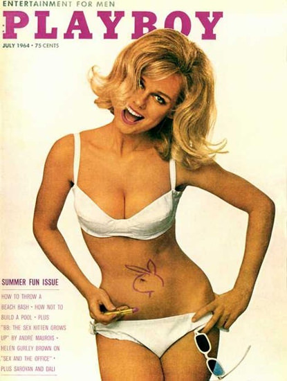 Cynthia Maddox Playboy Cover Copyright 1964 Summer Fun Issue | Sex Appeal Vintage Ads and Covers 1891-1970