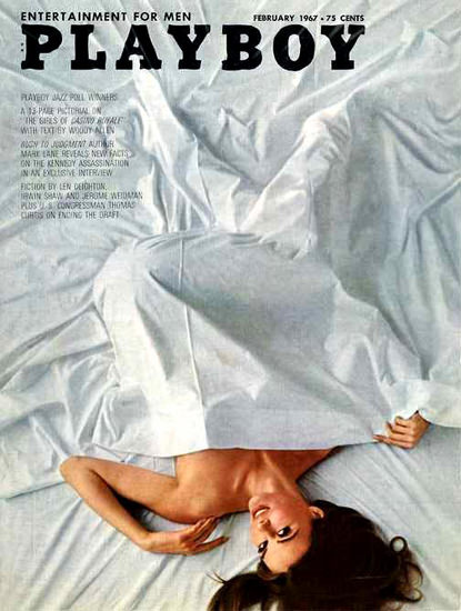 Helen Kirk Playboy Cover Copyright 1967 Jazz Poll Winners | Sex Appeal Vintage Ads and Covers 1891-1970