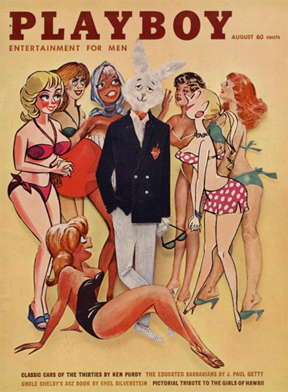 Playboy Magazine Cover 1961-08 Copyright Sex Appeal | Sex Appeal Vintage Ads and Covers 1891-1970
