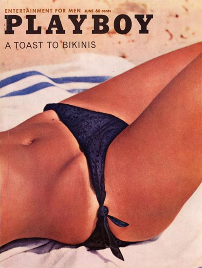 Playboy Magazine Cover 1962-06 Copyright Sex Appeal | Sex Appeal Vintage Ads and Covers 1891-1970