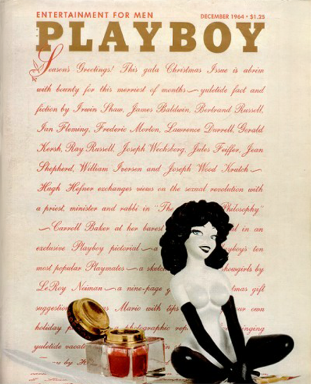 Playboy Magazine Cover 1964-12 Copyright Sex Appeal | Sex Appeal Vintage Ads and Covers 1891-1970