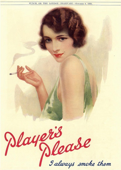 Players Pin-Up Girl Navy Cut Always Smoke Them | Sex Appeal Vintage Ads and Covers 1891-1970