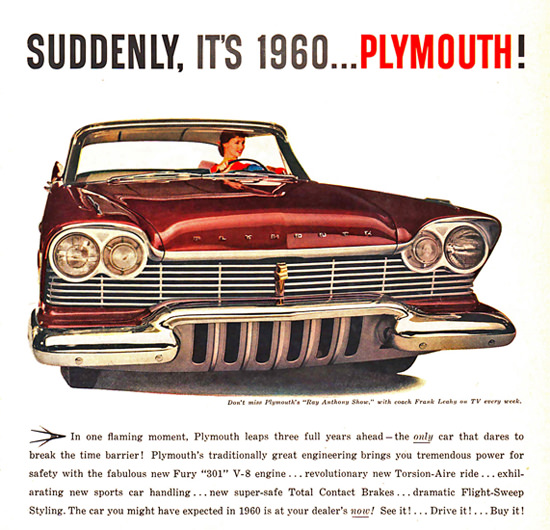 Plymouth 1960 Ray Anthony Show Frank Leahy | Vintage Cars 1891-1970