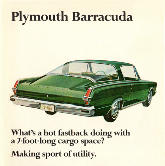 Plymouth Barracuda 1966 Hot Fastback | Vintage Cars 1891-1970