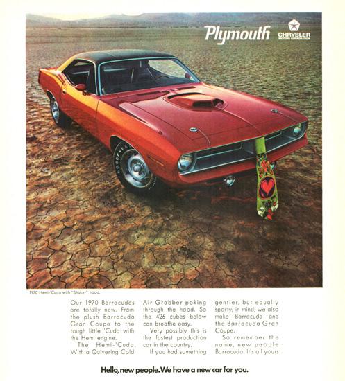 Plymouth Barracuda Hemi Cuda Shaker 1970 | Vintage Cars 1891-1970