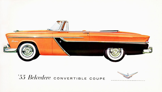Plymouth Belvedere Convertible Coupe 1955 | Vintage Cars 1891-1970