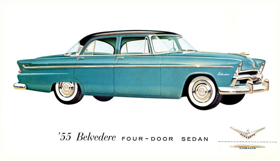 Plymouth Belvedere Four Door Sedan 1955 | Vintage Cars 1891-1970
