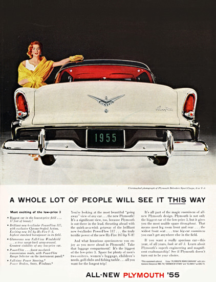 Plymouth Belvedere Sport 1955 Lady This Way | Vintage Cars 1891-1970