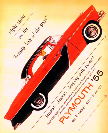 Plymouth Belvedere Sport Coupe Beauty 1955 | Vintage Cars 1891-1970