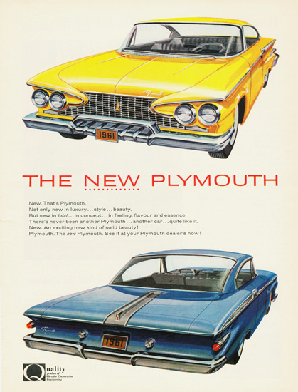 Plymouth Canada 1961 | Vintage Cars 1891-1970