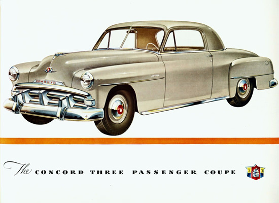 Plymouth Concord Three Passenger Coupe 1951 | Vintage Cars 1891-1970
