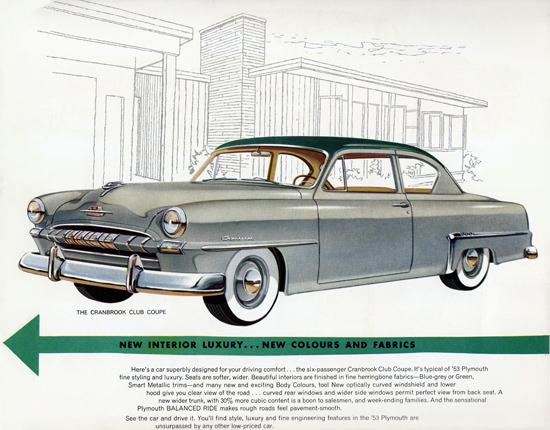Plymouth Cranbrook Club 1953 Balanced Ride | Vintage Cars 1891-1970