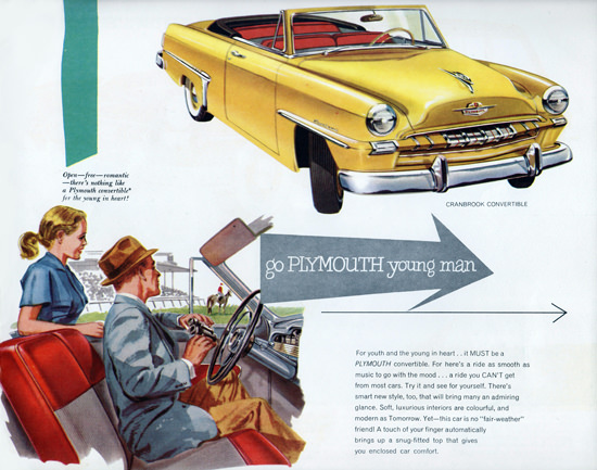 Plymouth Cranbrook Convertible 1953 Go Young Man | Vintage Cars 1891-1970