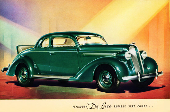 Plymouth De Luxe Rumble Seat Coupe 1936 | Vintage Cars 1891-1970
