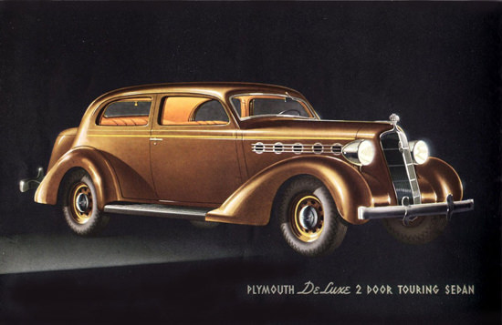 Plymouth DeLuxe 2 Door Touring Sedan 1935 | Vintage Cars 1891-1970