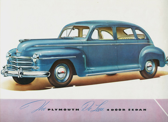 Plymouth DeLuxe 4 Door Sedan 1946 | Vintage Cars 1891-1970