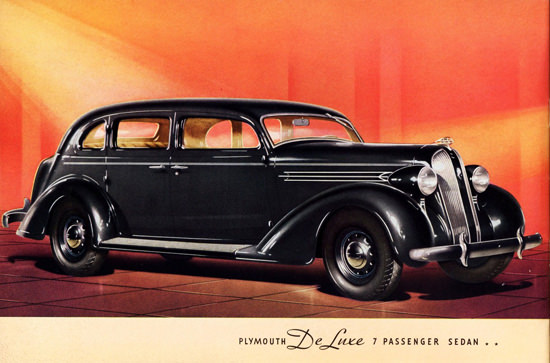 Plymouth DeLuxe 7 Passenger Sedan 1936 | Vintage Cars 1891-1970