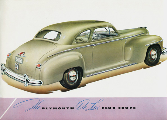 Plymouth DeLuxe Club Coupe 1946 | Vintage Cars 1891-1970
