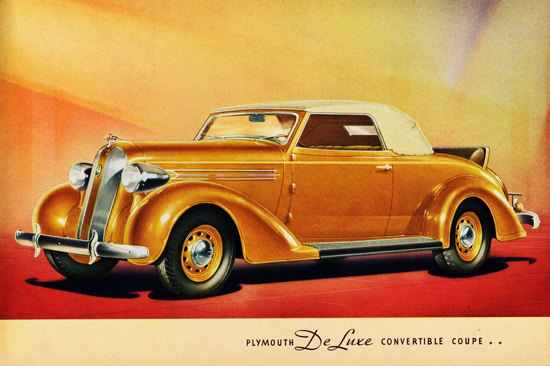 Plymouth DeLuxe Convertible Coupe 1936 | Vintage Cars 1891-1970