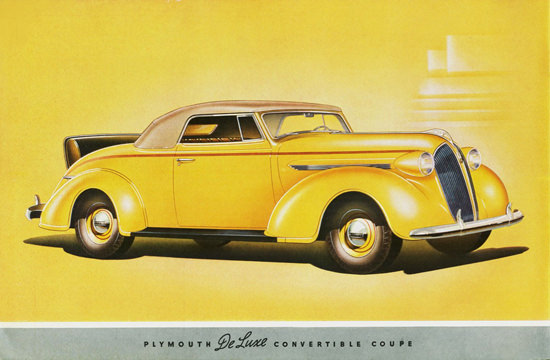 Plymouth DeLuxe Convertible Coupe 1937 | Vintage Cars 1891-1970