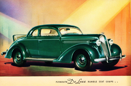 Plymouth DeLuxe Rumble Seat Coupe 1936 | Vintage Cars 1891-1970
