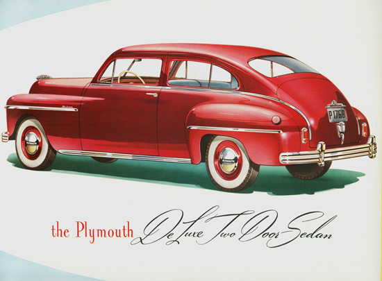 Plymouth DeLuxe Two Door Sedan 1949 | Vintage Cars 1891-1970