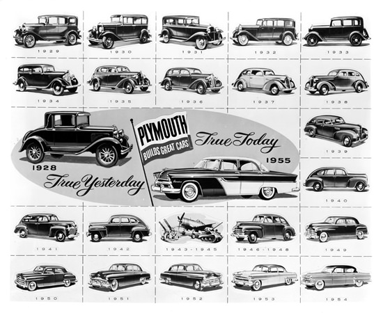 Plymouth Evolution 1928 To 1955 Yesterday Today | Vintage Cars 1891-1970