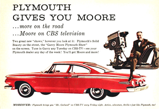 Plymouth Fury  Garry Moore CBS 1961 | Vintage Cars 1891-1970