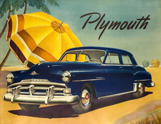 Plymouth Poster 1950 | Vintage Cars 1891-1970