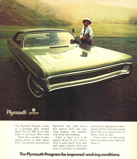 Plymouth Sport Fury 4 Door Hardtop 1970 | Vintage Cars 1891-1970