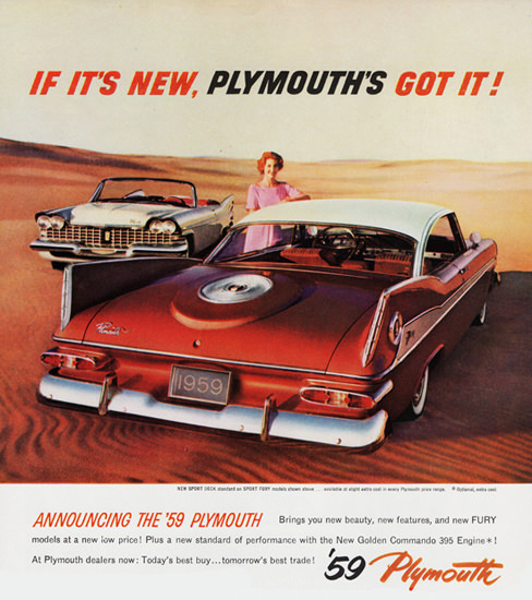 Plymouth Sport Fury N Convertible 1959 Desert | Vintage Cars 1891-1970
