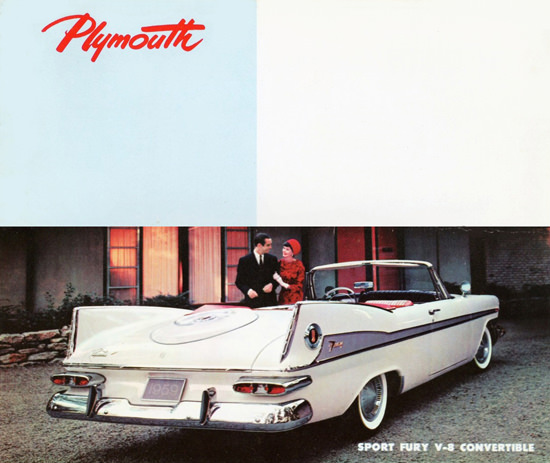 Plymouth Sport Fury V8 Convertible 1959 | Vintage Cars 1891-1970