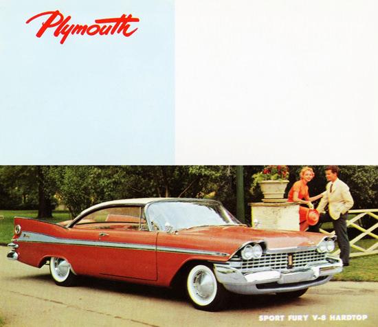Plymouth Sport Fury V8 Hardtop 1959 | Vintage Cars 1891-1970