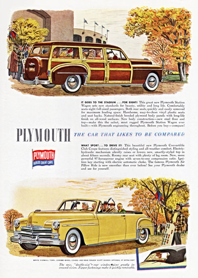 Plymouth Station Wagon N Convertible 1949 | Vintage Cars 1891-1970