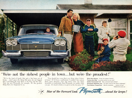 Plymouth V8 1958 Silver Dart Styling | Vintage Cars 1891-1970