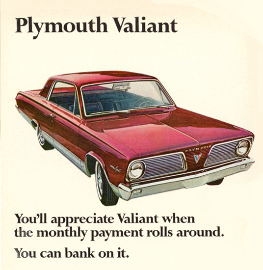 Plymouth Valiant 1966 You Can Bank On It | Vintage Cars 1891-1970