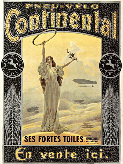 Pneu Velo Continental Ses Fortes Toiles 1900 | Sex Appeal Vintage Ads and Covers 1891-1970