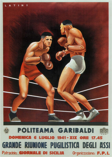 Politeama Garibaldi 1941 Sicilia Italy Italia Latini | Vintage War Propaganda Posters 1891-1970